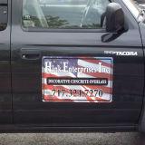 O carro magnético personalizado assina ímãs da porta de carro