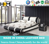 Basi di lusso del cuoio del doppio della mobilia per la mobilia della camera da letto (HCC316)