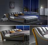 تصميم جديدة أنيق حديث [جنوين لثر] سرير ([هك315]) لأنّ غرفة نوم