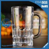 taza del vidrio de cerveza 300ml con la maneta