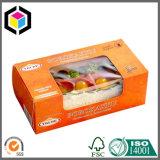 Rectángulo de empaquetado de papel colorido de cuatro de la disposición anillos de espuma de la esquina de la categoría alimenticia