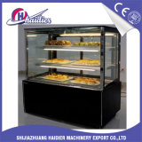 Étalage frigorifié de gâteau de partie supérieure du comptoir avec la porte en verre pour le dessert de pâtisserie
