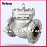 Alta qualidade da válvula de verificação do balanço aço moldado/inoxidável de Wcb