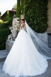 Jersaey линия платья венчания полной втулки разнослоистые с Fishbone
