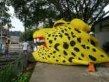 El balompié se divierte el túnel inflable del casco del jaguar para los acontecimientos de Soprt
