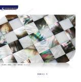 Het vierkante Shell van Juwelen Witte Natuurlijke Bouwmateriaal van het Mozaïek
