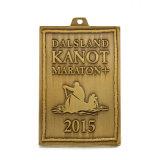 Medaglione corrente di maratona di vecchio stile di promozione con la sagola