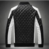 Куртка ворота кожи цвета кожи пальто PU диаманта людей локомотивная (6066)