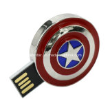 Movimentação impermeável do flash do USB dos Avengers do metal do disco do USB