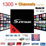 Androïde van TV Arabische IPTV Turkije TV Kodi 17.1 van de Doos 4k het VideoE8 Goed van de Doos van TV dan X96