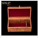 Подлинная деревянная рука коробки бутылки пива вина высекла для Madera-Искусство Ind рождества