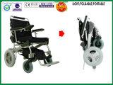 Cadeira de rodas Foldable da potência do motor dourado/cadeira de rodas elétrica, dobradura 1second