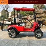 Carro de golfe elétrico da caça de 4 passageiros (assentos de dobradura traseiros da parte traseira)
