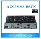 Doubles tuners combinés procurables du système d'exploitation linux Enigma2 DVB-S2+2*DVB-T2/C de Zgemma H5.2tc de récepteur de l'Europe H. 265/Hevc