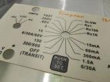 Reißverschluss geprägter kundenspezifischer Dünnfilm-flexibler Membranschalter mit Kleber 3m467/3m468