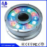 12V IP68のステンレス鋼材料DMX RGB 9W 12Wの噴水LED水中ライト