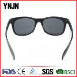 Ynjn UV400 ретро отсутствие солнечных очков логоса Unisex поляризовыванных пластмассой