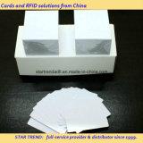 Пустая карточка PVC белизны с размером Cr80/30mil для штока розничного торговца