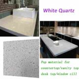 Projeto branco de cristal da bancada da pedra de quartzo