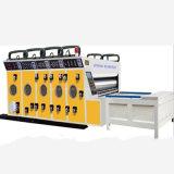 Máquina que ranura del alimentador de la impresión de cadena semi automática de Flexo