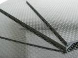 hoja mate/brillante de la tela cruzada 3k del carbón de la fibra de la placa