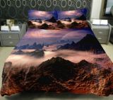 100%年の綿のBed Sheet Comforter Set 3D Reactive Printed Bed部屋Set
