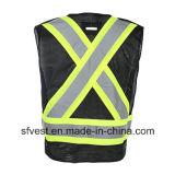 Мотоцикл черноты Workwear безопасности отражательный или тельняшка сетки полиций отражательная
