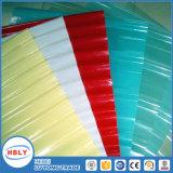 Plaque ondulée de PC de courbure froide de parasols de couleur de résistance d'incendie