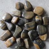 자연적인 Polished 줄무늬 자갈 돌