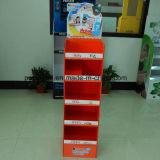 Exhibición de cartón corrugado con la impresión de Cmyk, soporte de exhibición de papel, soporte de exhibición Couurgated, exhibición de estallido de encargo, exhibición de suelo del estallido