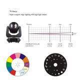 Mini luz principal móvil estupenda de la etapa de la viga de la prisma 10r