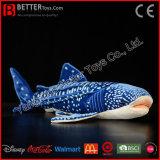 ASTMのぬいぐるみの子供のための柔らかいジンベイザメのリアルなプラシ天のおもちゃの鮫