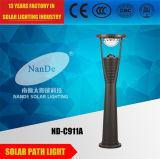 Angeschaltenes Garten-Solarlicht mit der Farbe, die LED ändert