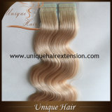Nastro dei capelli umani del commercio all'ingrosso 100% nella fabbrica di estensioni