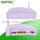 Porta do Fe 4 com 2 Triple Play sem fio portuário Epon Olt ONU de VoIP FTTH