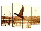 [هد] طبع [4بكس] بطّ تدريب أن يطير صورة زيتيّة على نوع خيش غرفة زخرفة طبلة ملصقة صورة نوع خيش يشكّل [مك-012]