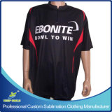 Customized su ordinazione Sublimation Club Team Bowling T-Shirt per Bowling Game