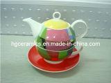 Teiera, teiera fine di Cina di osso, teiera di ceramica della tazza, insieme di Cup&Saucer
