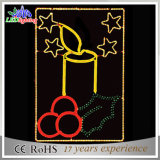 Feiertags-Motiv-nette 2D Weihnachtsmotiv-Dekoration-Kerze-Lichter