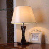 Lámpara de vector china moderna de lectura del Woodiness de la cabecera de la tela para el hotel