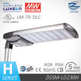 230W Meanwell Driver Parking Lot LED Lampe avec 277V / 347V / 480V Entrée