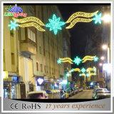 Réverbère extérieur de décoration de Noël de motif des horizons DEL de festival