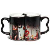 De gepersonaliseerde 11oz Mok van Cearmic van het Paar met de Zwarte Mok van de Koffie van de Kleur Magische voor Liefde