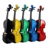 Colorear el precio de fábrica acústico del violín de la práctica de la madera contrachapada
