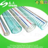 Mangueira reforçada PVC transparente do fio de aço
