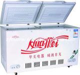 congelador da caixa da porta da parte superior da espuma do Dobro-Temp 258L
