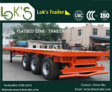 3axles Flatbed Semi Aanhangwagen