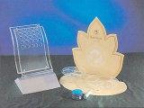 Présentoir acrylique clair de collier (C006)