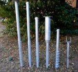Piles au sol hélicoïdales de vis pour la base des brides photovoltaïques solaires