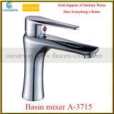Lavabo de cromo Mezclador de lavabo de palanca simple (A-3715)